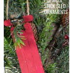 How to Make Popsicle Stick Sled Ornaments