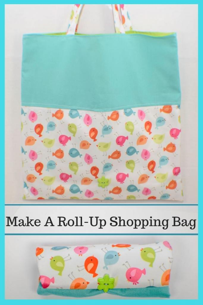 How to make a roll up shopping bag