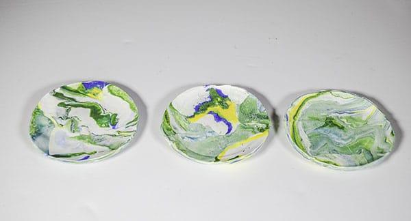 Make polymer clay trinket dishes