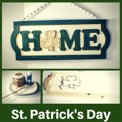 Make a St. Patrick's Day Door Plaque