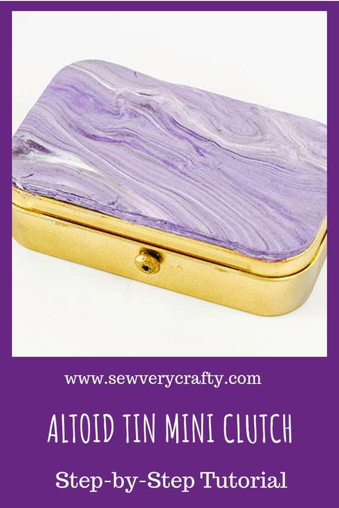 Make an altoids tin mini clutch