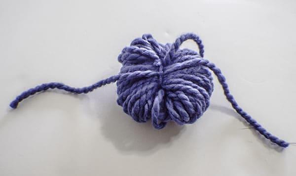 How to make a drop cloth pom pom throw