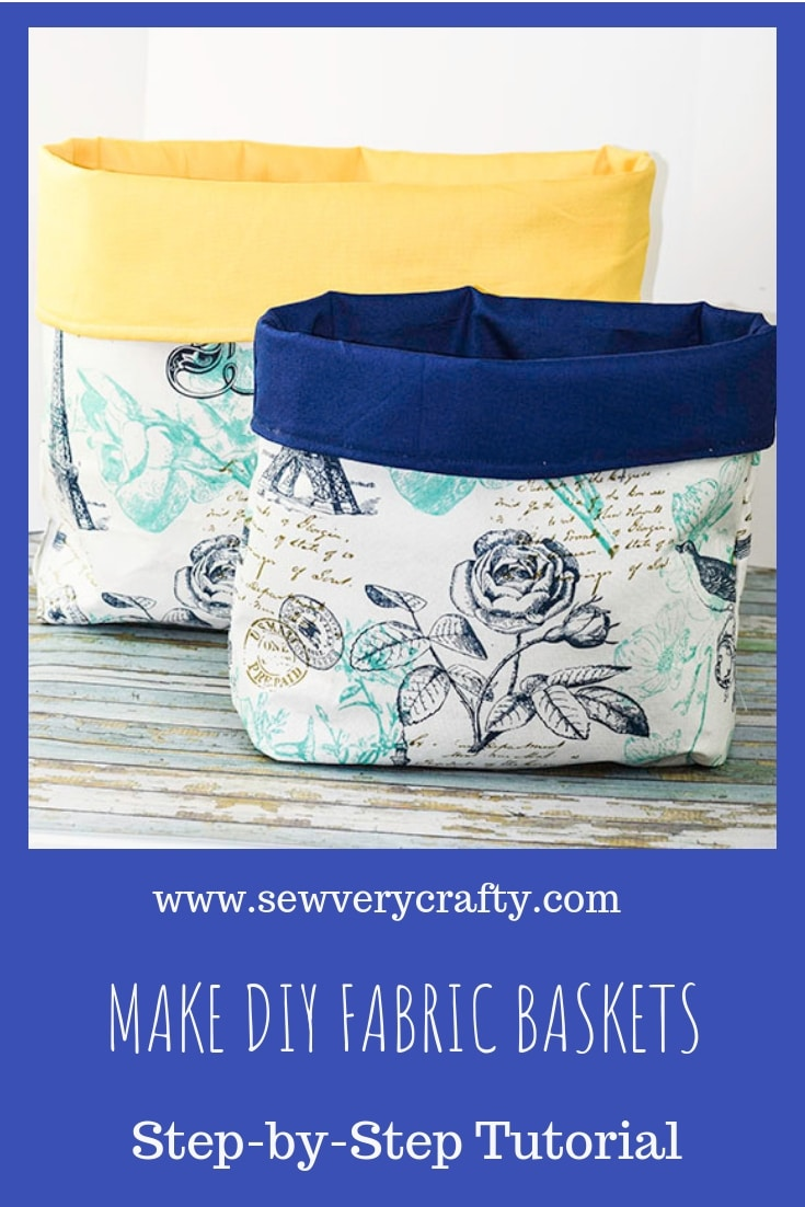 Make diy fabric baskets