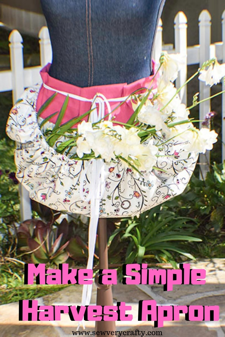 How to make a simple harvest apron