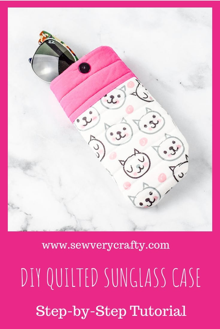 Make a diy quilted sunglass case