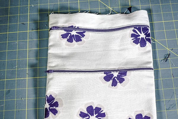 How to make a double zipper cross body bag