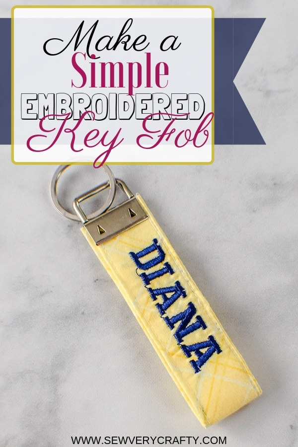 How to Make an embroidered key fob