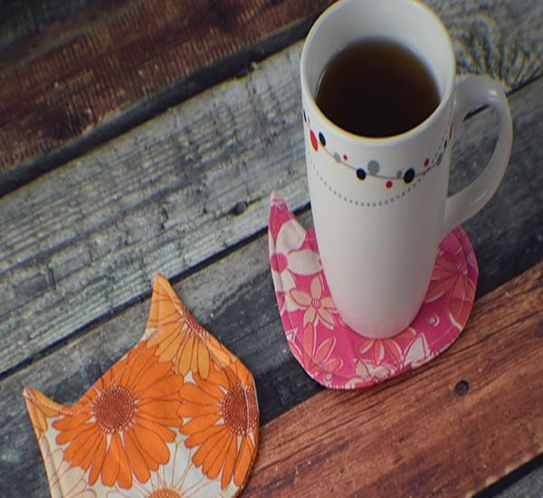 How to make a cat mug rug