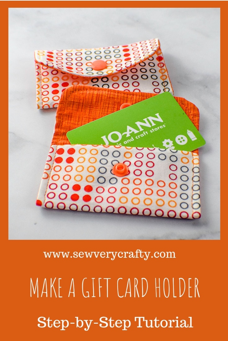 How to Make a Fabric Gift Card Holder - Sew Very Crafty