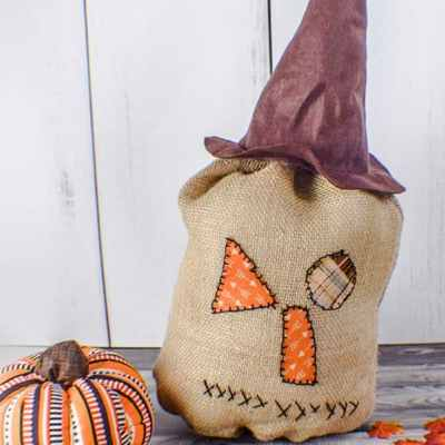How to Make a Primitive Burlap Pumpkin