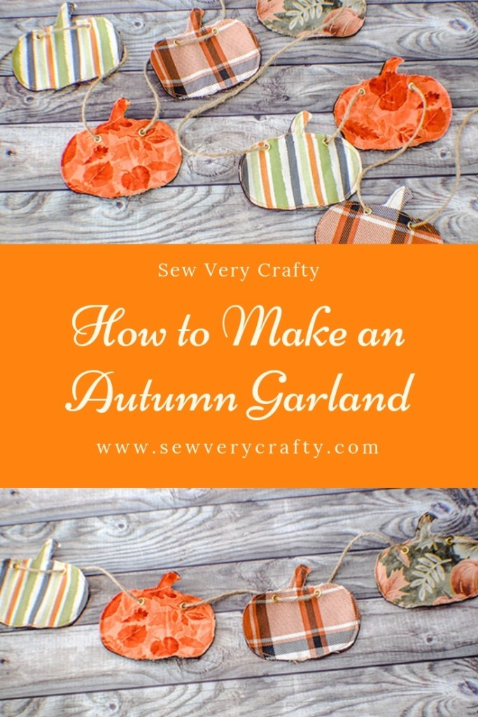 How to make an autumn pumpkin garland