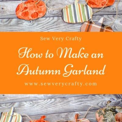 How to Make an Autumn Pumpkin Garland