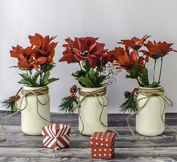 Make Painted Christmas Mason Jars