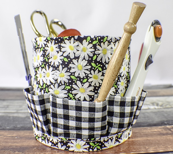 How to Make a sewing or craft organizing caddy