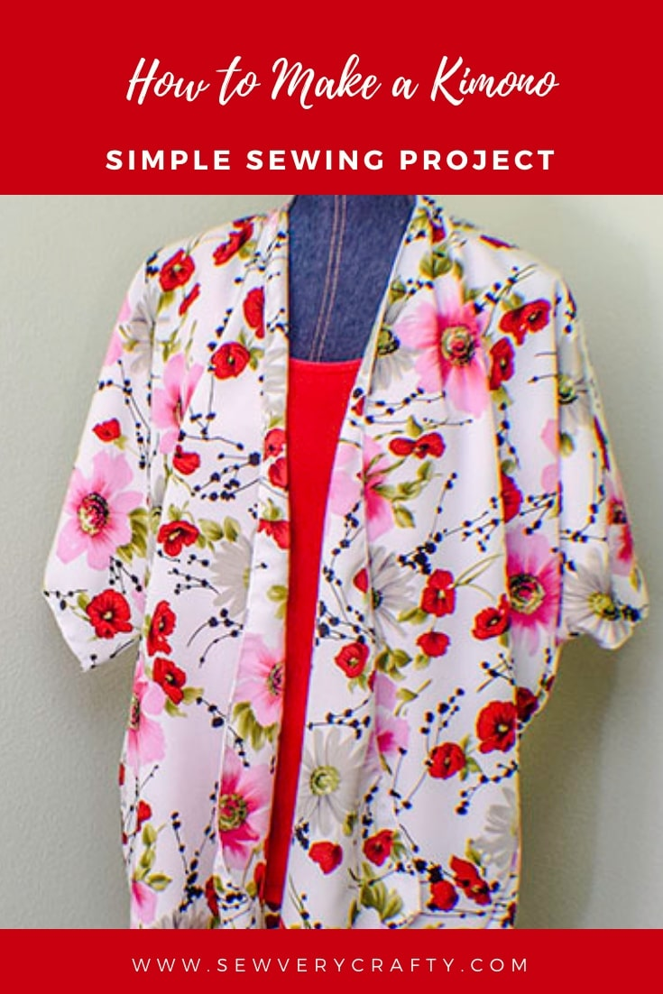 How To Make A Simple Kimono Jacket Sew Very Crafty