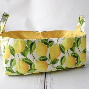 How to make a fabric divided basket