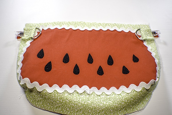 How to make a watermelon purse