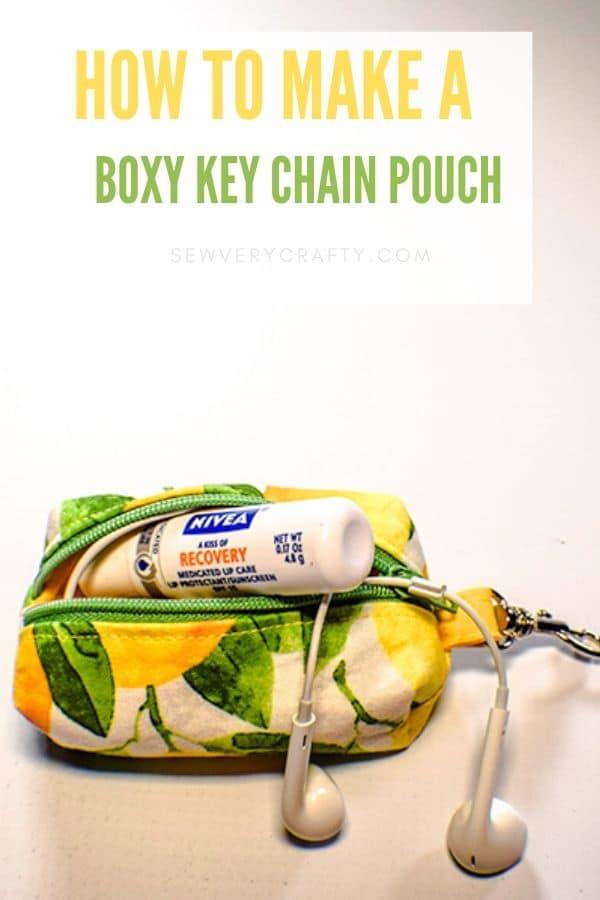 How to make a boxy key chain zipper pouch