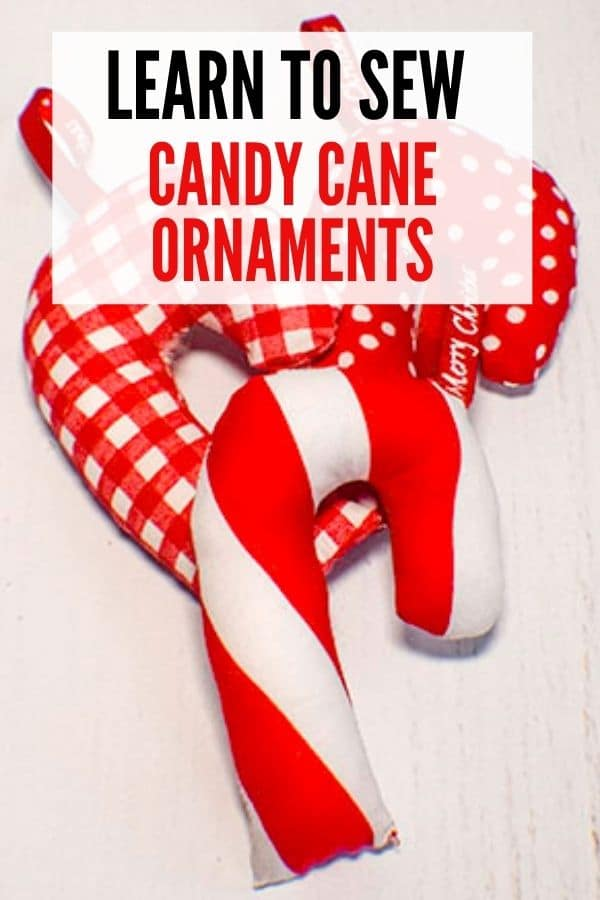 Learn to sew candy cane ornaments