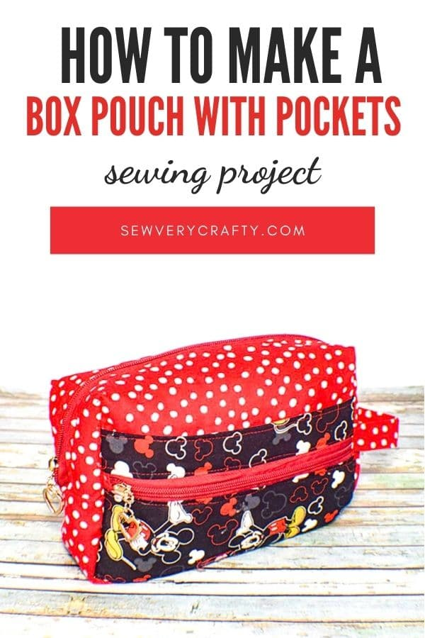Learn to sew a zippered box pouch with pockets