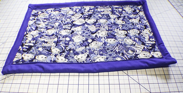 How to Make a Simple quilted placemat