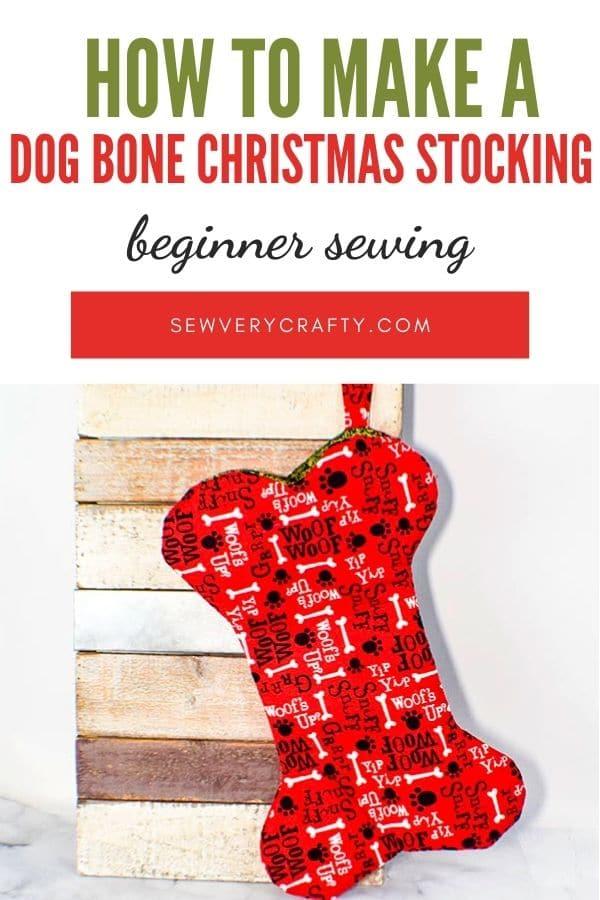 How to Make a Dog Bone Christmas Stocking