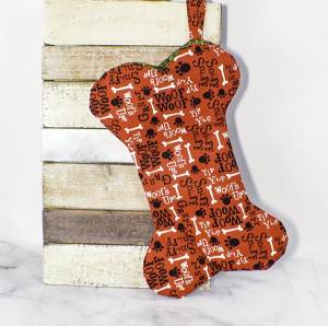 How to Make a dog bone Christmas stocking