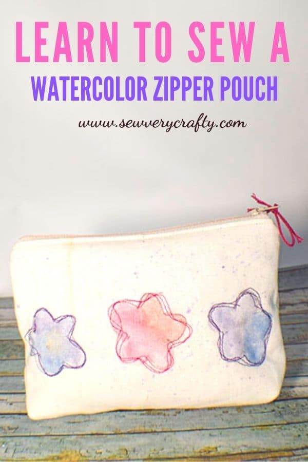 How to Make a Watercolor zipper pouch