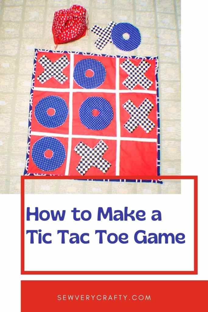 Sew a quilted Tic-Tac-Toe Game