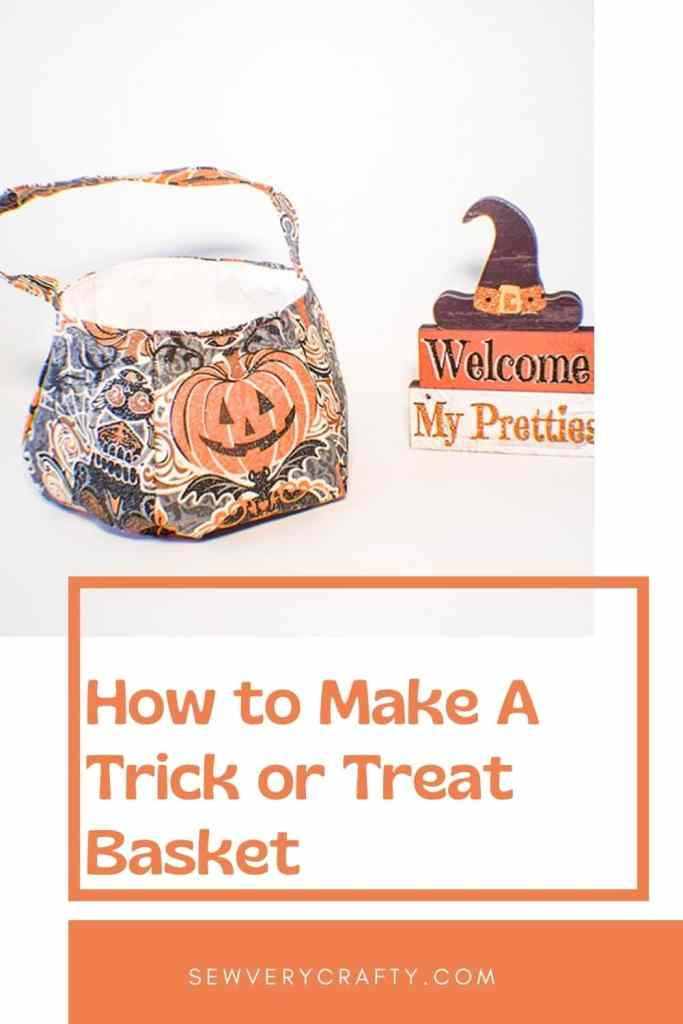 How to Make a Halloween trick or treat basket
