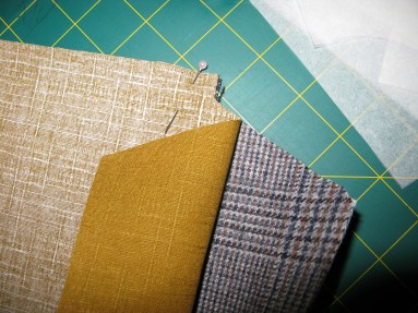 Right sides together, ready for stitching