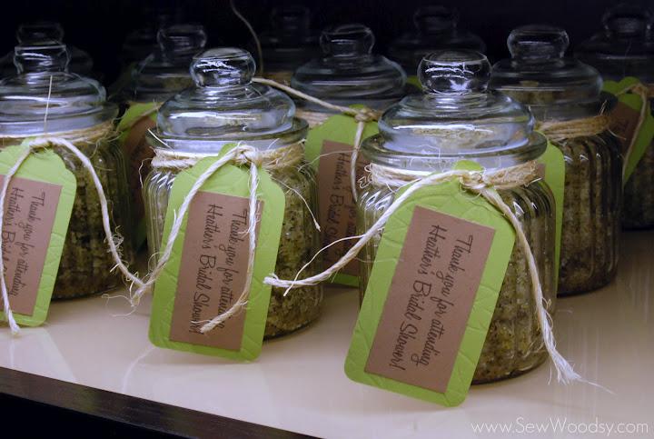 {Bridal Shower Favors} Lemon Tea Sugar Scrub