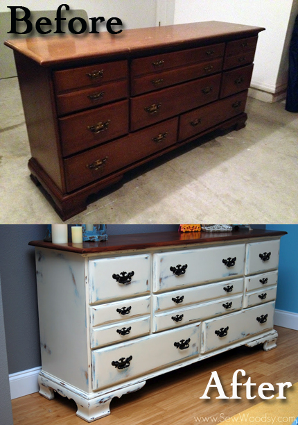 before and after long dresser