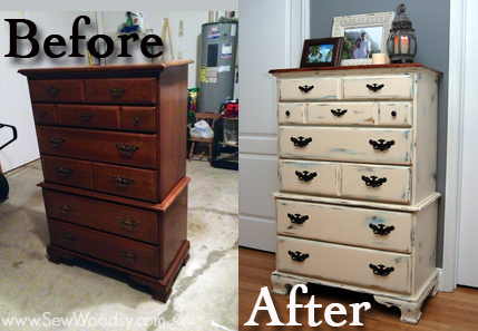 before and after tall dresser