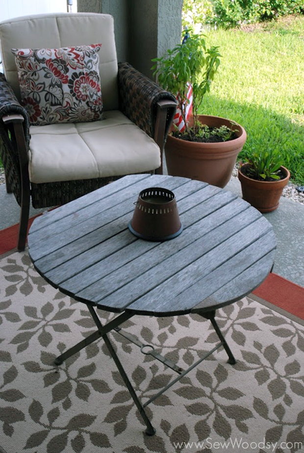 old wood outdoor table