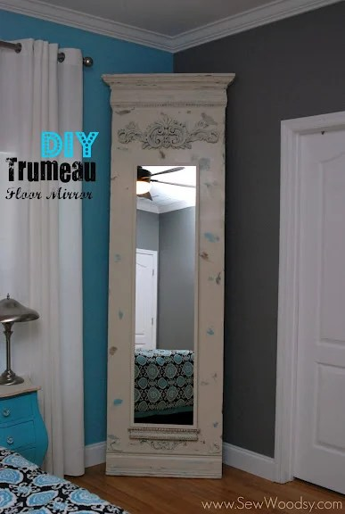 DIY Trumeau Floor Mirror made from PureBond® Hardwood Plywood