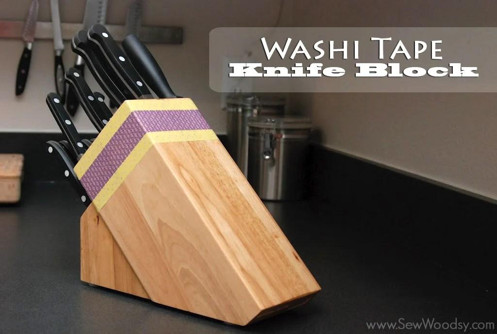 washi tape knife block from SewWoodsy.com