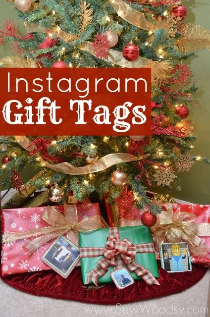Instagram Gift Tags by SewWoodsy.com #Christmas #Instagram #DIY