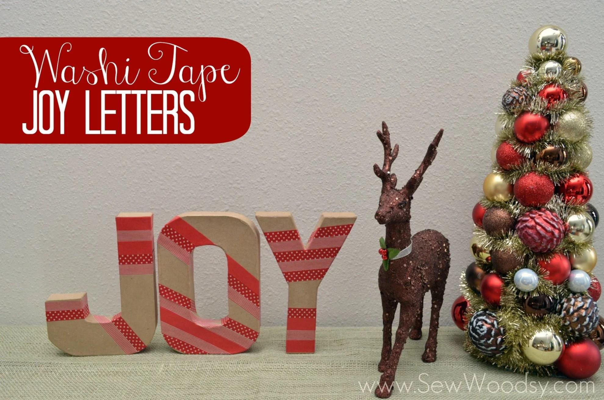Washi Tape Joy Letters