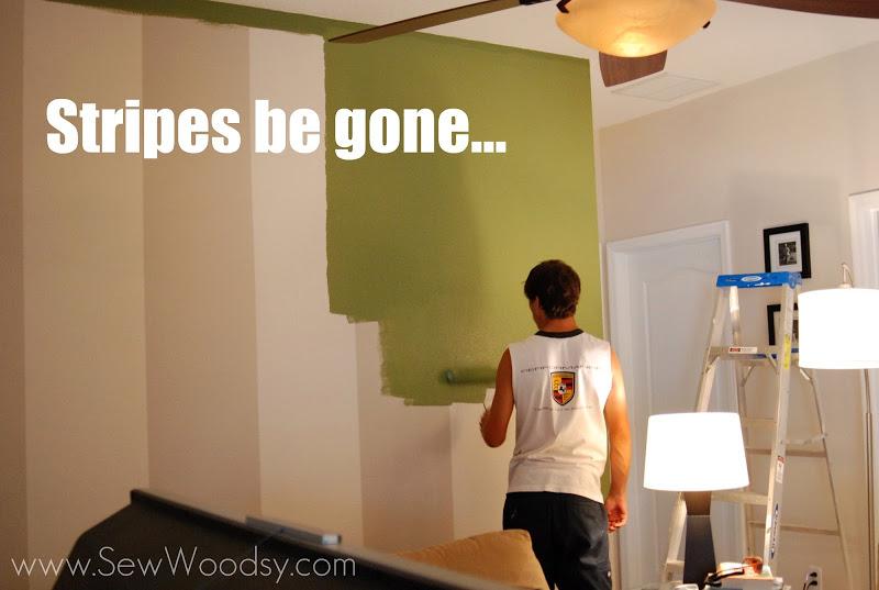 Stripes be gone... #painting #DIY #BEHRpaint