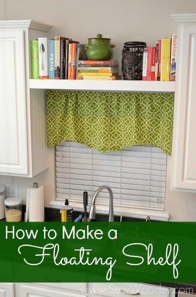 How to make a floating shelf via Homes.com from SewWoodsy.com