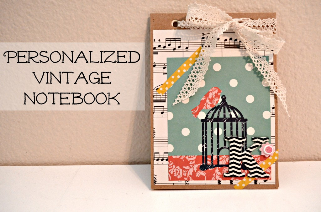 Personalized Vintage Notebook from SewWoodsy.com