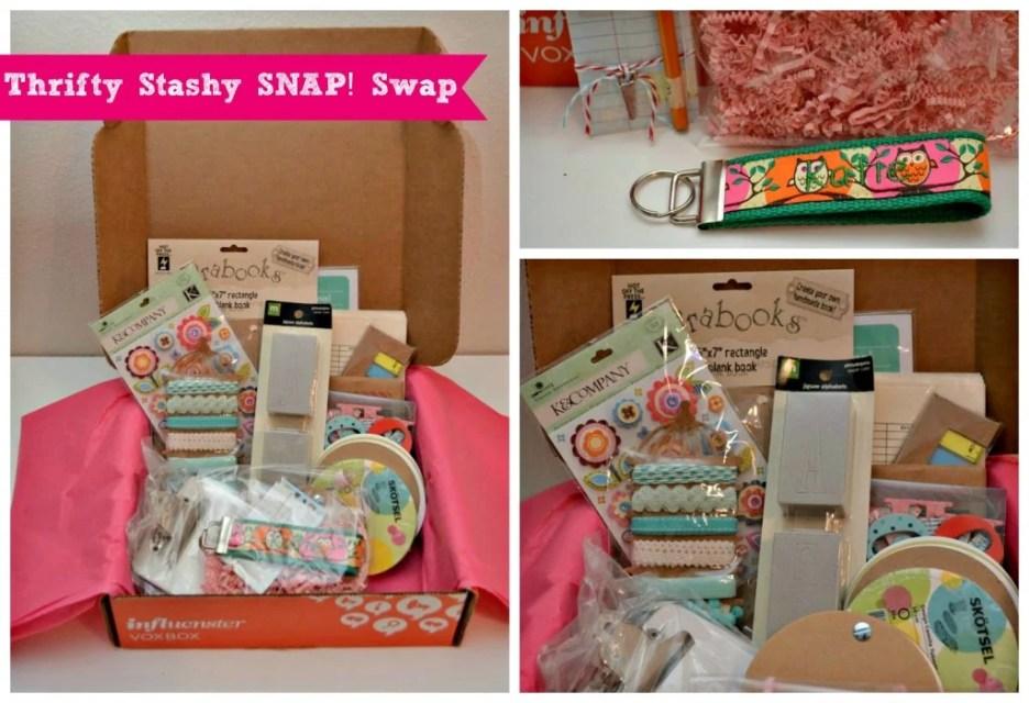 Thrifty Stashy SNAP Swap Box via SewWoodsy.com
