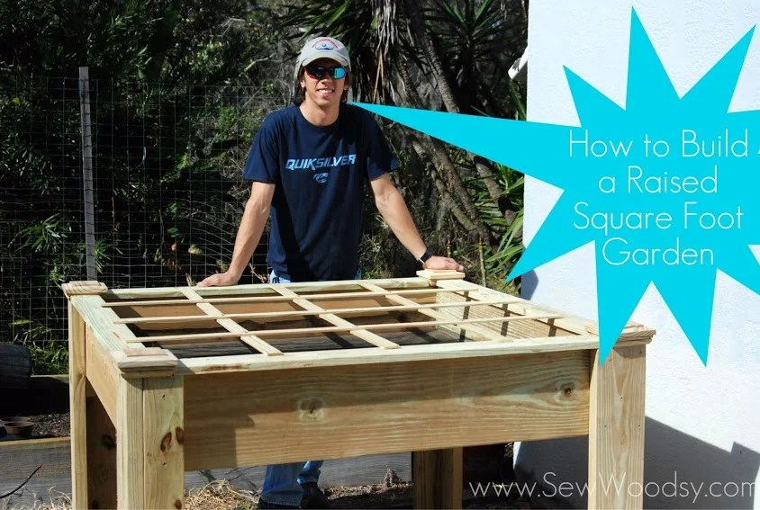 How to Build a Raised Square Foot Garden from SewWoodsy.com