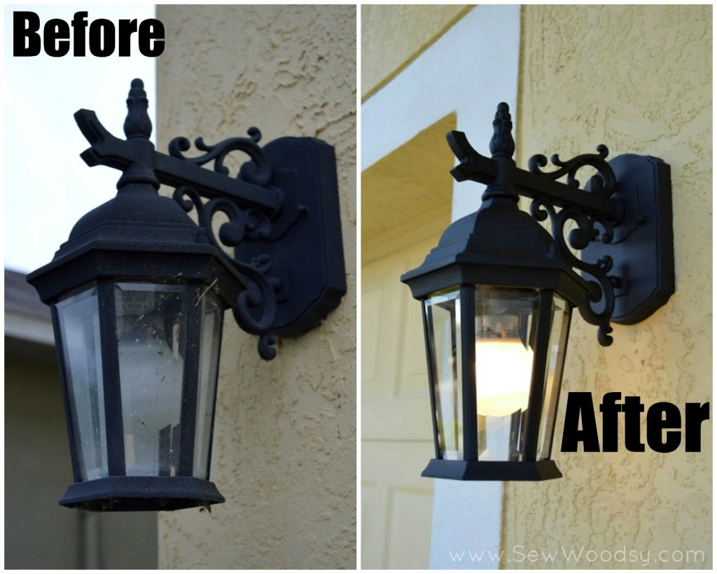 Before and After Spring Lighting Video for Homes.com via SewWoodsy.com