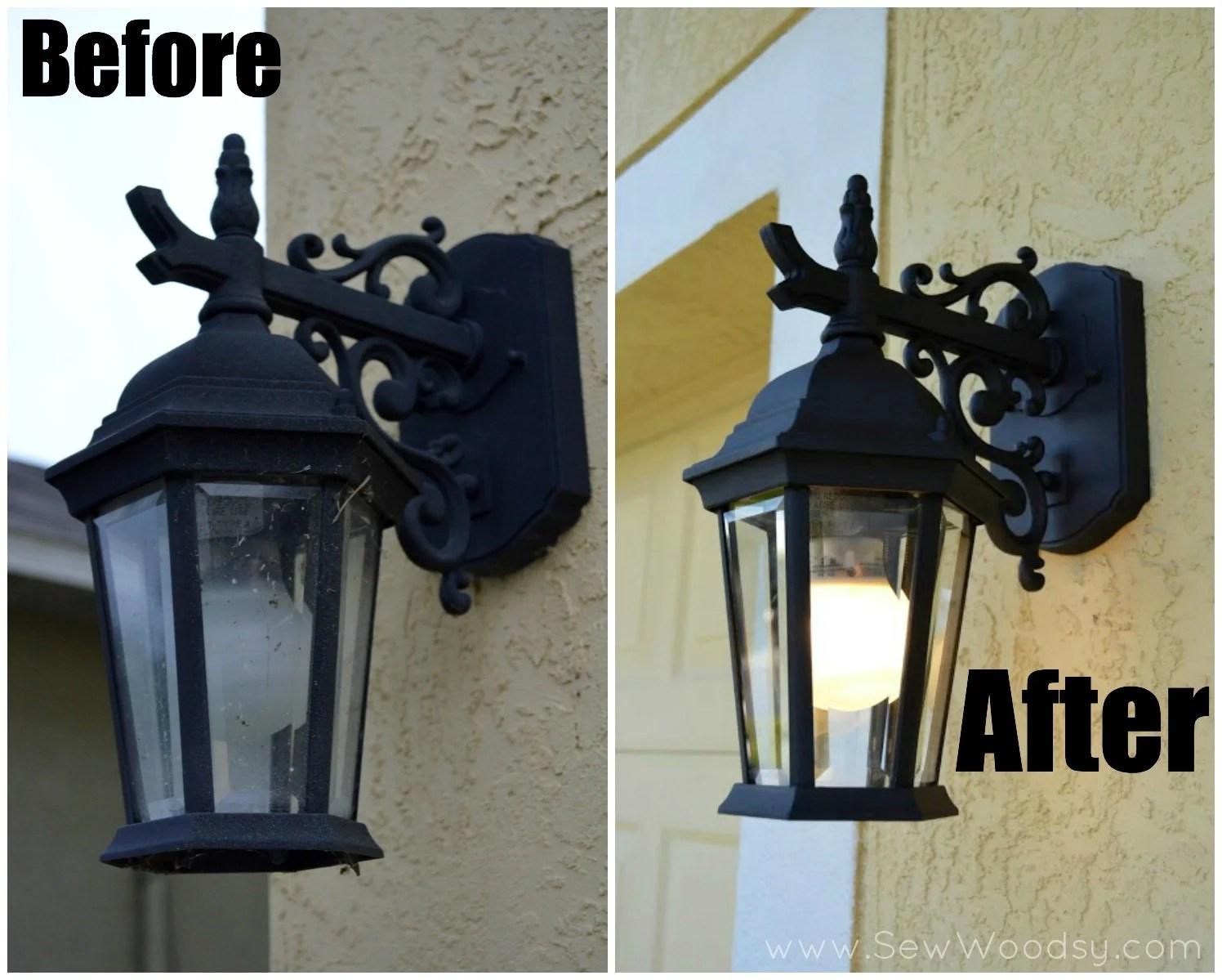 Before and After Spring Lighting Video for Homes.com via SewWoodsy.com