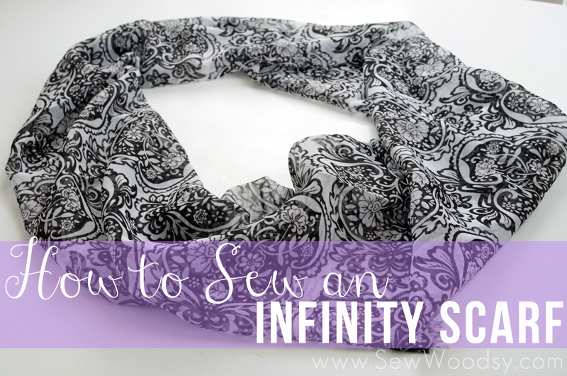 how to sew an infinity scarf from SewWoodsy.com #diy #sewing #tutorial