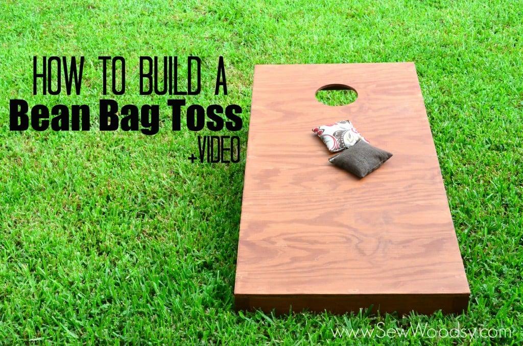 How to Build A Bean Bag Toss +Video via SewWoodsy.com