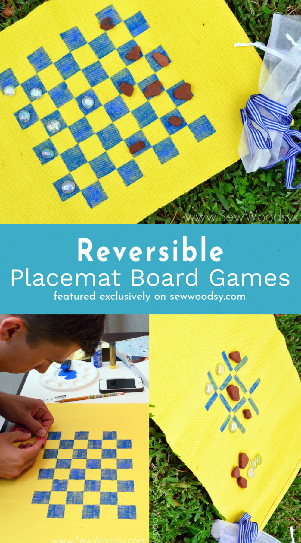 Reversible Placemat Board Games