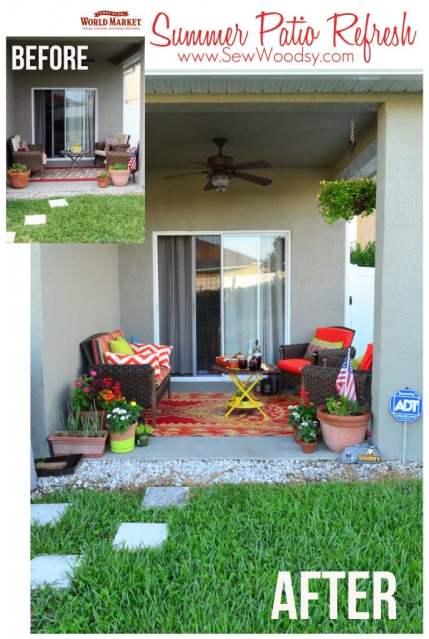 Summer Patio Refresh with @worldmarket via SewWoodsy.com #SummerFun #Decorating #Outdoor #Patio